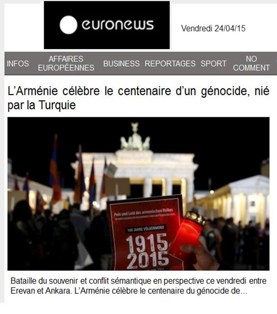 commemoracion armeniana en Euròpa