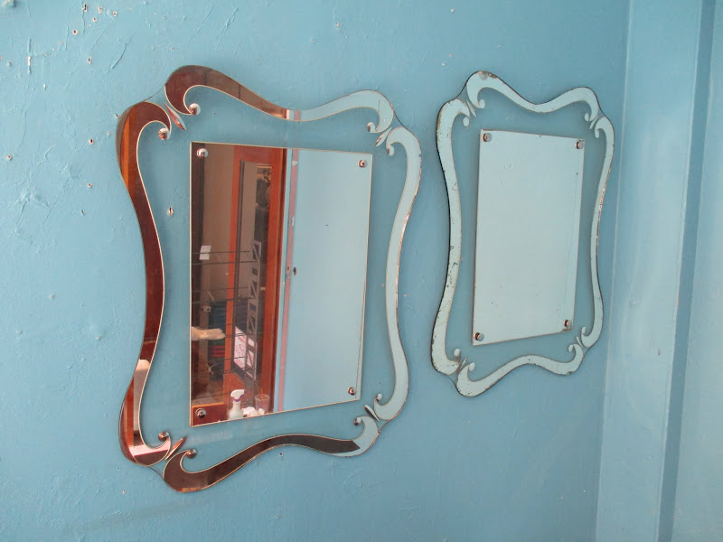 Scalloped Mirror Pair
