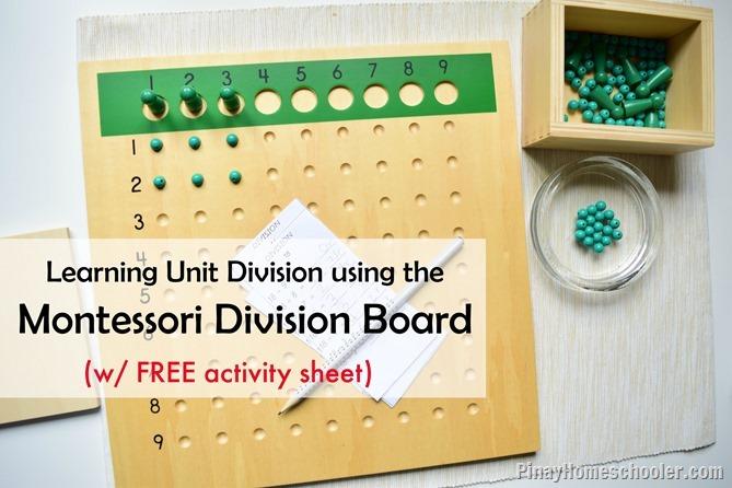 Montessori Division Bead Board