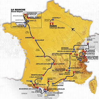 French Village Diaries Tour de France 2016 route and reading