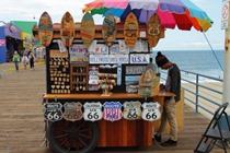 Gorgeous street stall at Santa Monica Pier, California