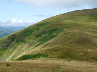 Paths merge at Mousthwaite Comb