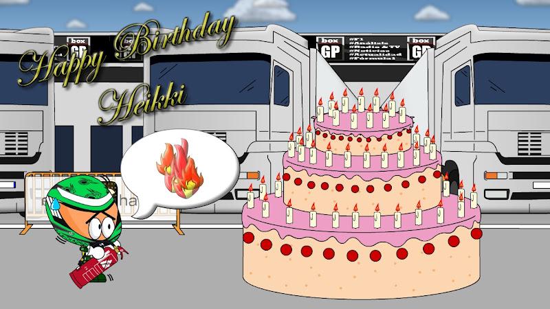 торт Хейкки Ковалайнену на день рождения от Los MiniDrivers