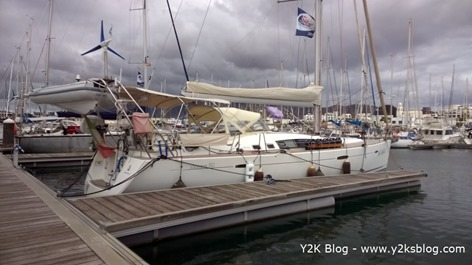 Y2K ormeggiata a Marina Rubicon - Lanzarote