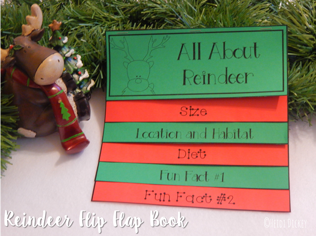 Reindeer Flip Flap Book