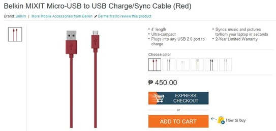 Belkin Micro USB Cable