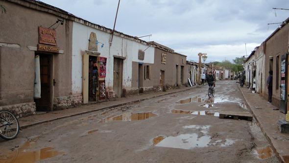 San Pedro de Atacama após a chuva