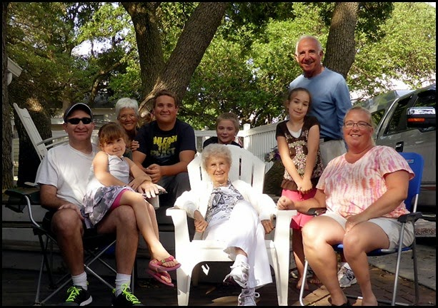 10 - Great Grandmom came for a pizza party