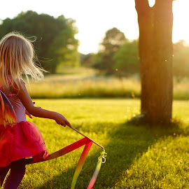 Sunset Fairy by Audriana Duvall - Babies & Children Children Candids ( sunset, fairy, children candids, children, imagination )