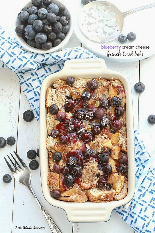 Blueberry Cream Cheese French Toast Bake - An easy and delicious baked ...