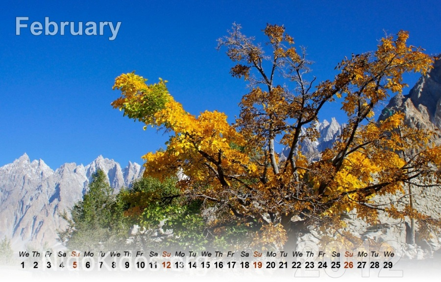 Pakistan Pictures - Calendar