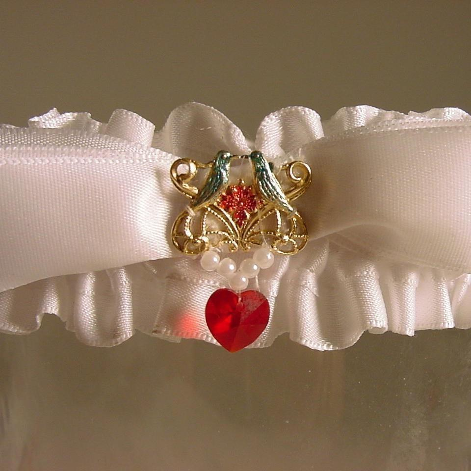 Wedding garter LOVE BIRD