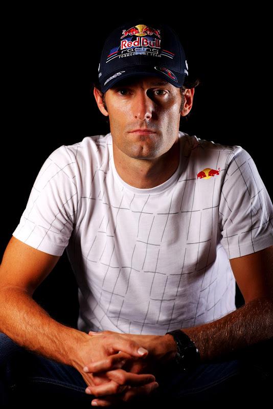 фотосессия Марка Уэббера в начале уикенда на Гран-при Бельгии 2011 в Спа-Франкошам