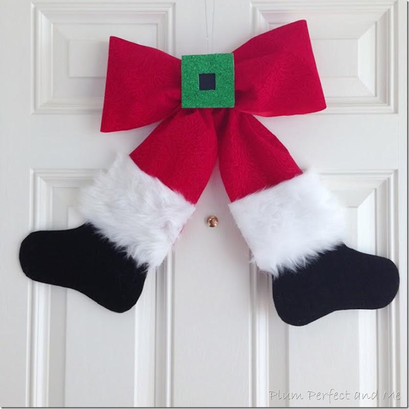 Santa Bow for Christmas