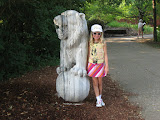 Hannah and a lion at the Nashville Zoo 09032011