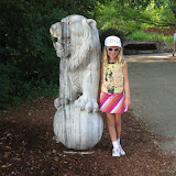 Hannah and a lion at the Nashville Zoo 09032011