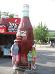 Lori, Bryan and Hannah by the Coke stand in Hollywood Studios in Disney 06062011