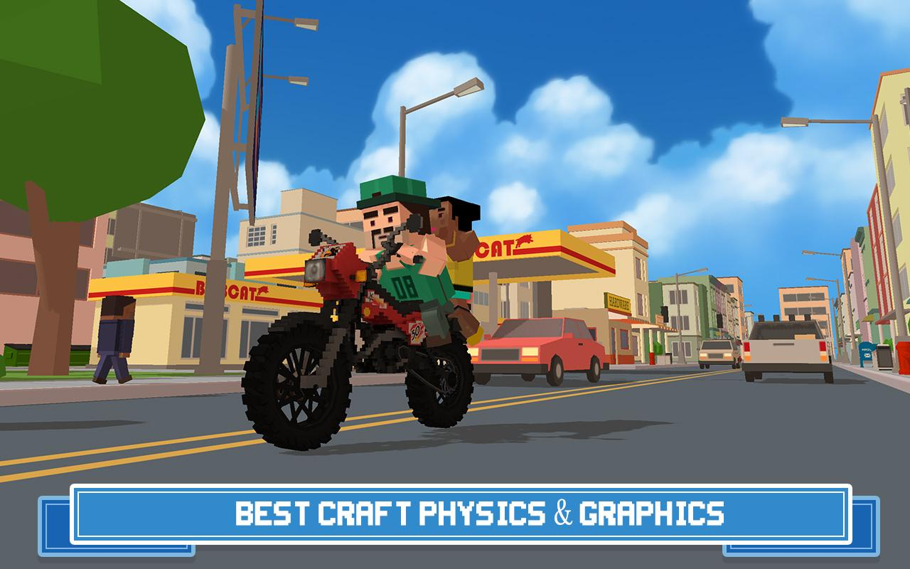 Moto Rider 3D: Blocky City 17 Screenshot 1