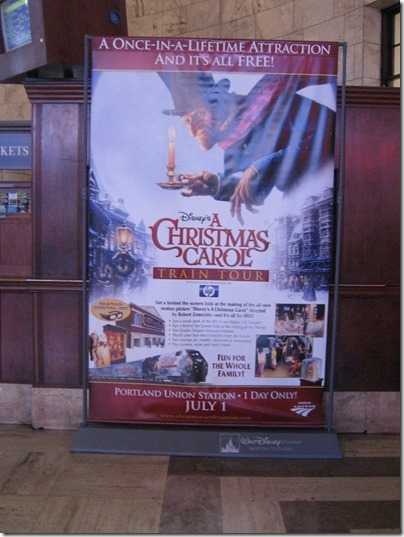 IMG_7668 Christmas Carol Train Banner at Union Station in Portland, Oregon on July 1, 2009