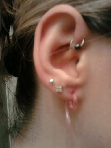 Forward helix piercing and 12g acryllic