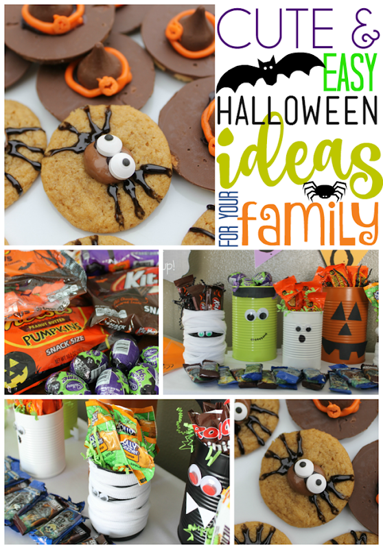 Cute & Easy Halloween Ideas for Your Family with Hershey's   at GingerSnapCrafts.com #Halloween #sponsored