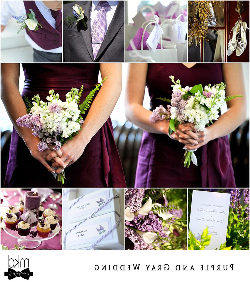 gray and purple wedding
