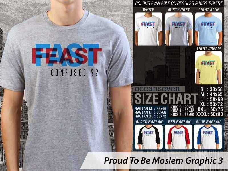 KAOS Islam Muslim Feast confused?? Proud To Be Moslem Graphic 3 distro ocean seven