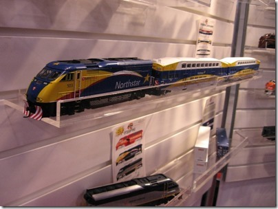 IMG_0662 HO-Scale Northstar F59PHI & Bombardier Commuter Coaches by Athearn at the WGH Show in Puyallup, Washington on November 21, 2009