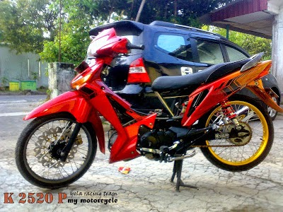 Deskripsi Gambar Modifikasi Supra X 125 R Road Race :
