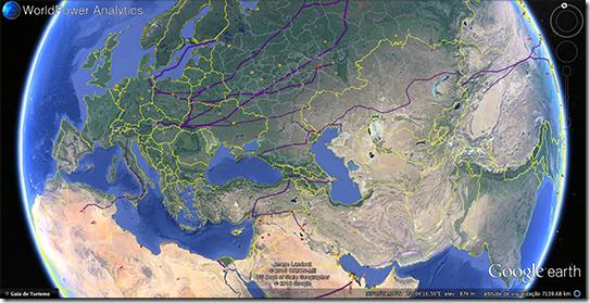 Mapa da rede energética mundial