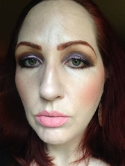 wearing NYX Cosmetics High Definition Blush in Rose Gold