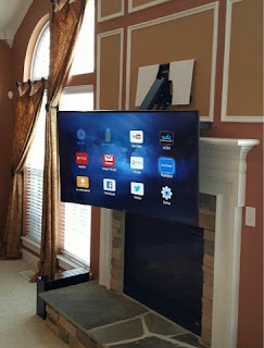 pull down tv mount. TV Wall Mounting Services, Charlotte Tv Over Fireplace Installation Company Pull Down Mount O