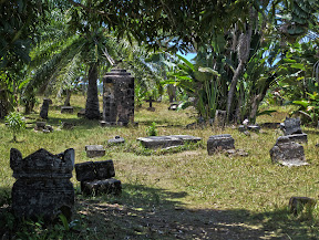 More tombstones at the pirate cemetery.