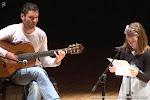 Patxi Moreno Vayá durante el acto 'Recital de poesía y guitarra para jóvenes'