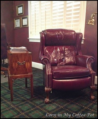 leather chair-- RED-- title office
