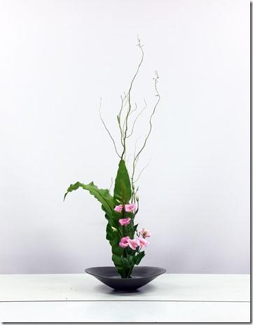 【生花正風体】ウンリュウヤナギ、タニワタリ、トルコキキョウ