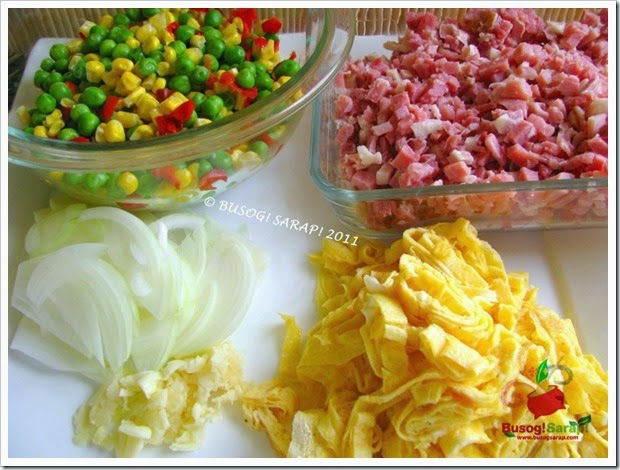 FRIED RICE INGREDIENTS© BUSOG! SARAP! 2011