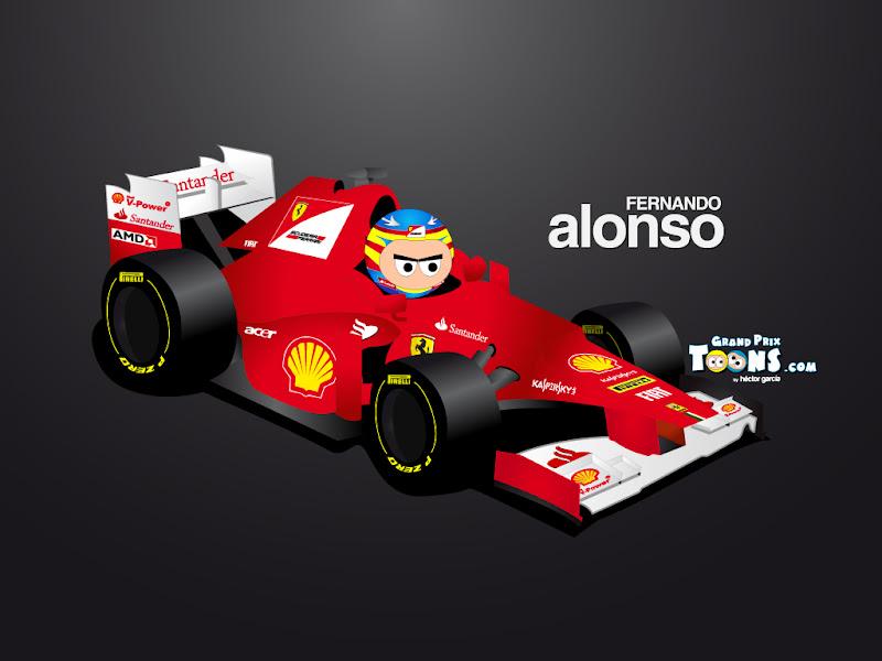 Фернандо Алонсо Ferrari F2012 Grand Prix Toons