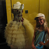 Hannah standing by a dress that Carrie Underwood wore in the Country Music Hall of Fame in Nashville TN 09042011