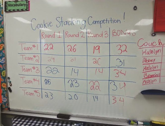 cookie stacking competition
