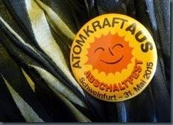 ATOMKRAFT  AUS Abschaltfest Button
