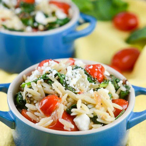 orzo salad with lemon basil dressing two peas orzo salad recipe orzo ...