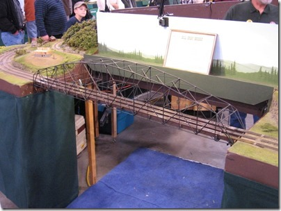 IMG_0757 Bill Gray Bridge on the Mt. Rainier N-Scale Layout at the WGH Show in Puyallup, Washington on November 21, 2009