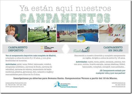 Campamentos Verano 2015 Club de Pádel y Tenis Fuencarral. Elige el tuyo!