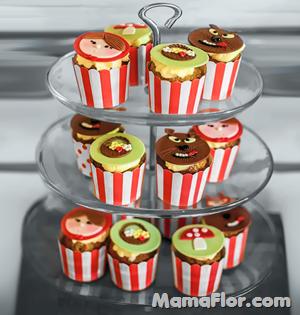 Cupcakes de La Caperucita Roja