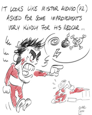 Фернандо Алонсо - комикс Cirebox по Гран-при Испании 2012