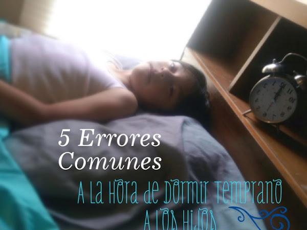 5 errores comunes a la hora de dormir temprano a los hijos