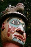 Man Wearing Bear Hat - Totem Bight, Ketchikan, AK