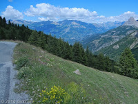 Auf der nicht enden wollenden Nordrampe des Col d'Allos (2247 m) Richtung Barcelonnette.