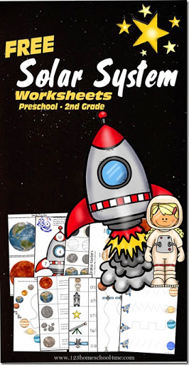 math worksheet : solar system  learning pack for preschool kindergarten and 1st  : Solar System Worksheets For Kindergarten